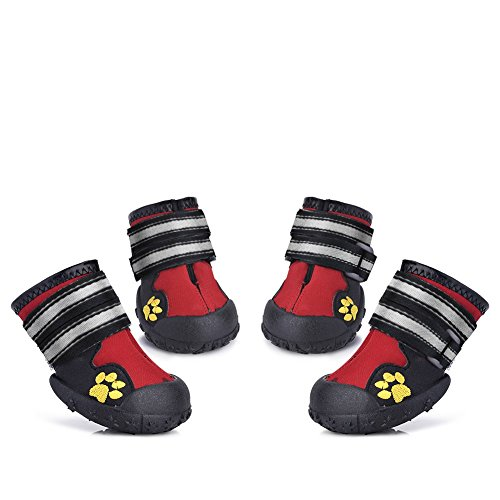 Petacc Dog Shoes Water Resistant Dog Boots