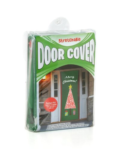 Kittrich Corporation Double-Sided Decorative Contemporary Christmas Theme Stretchable Door Cover ()
