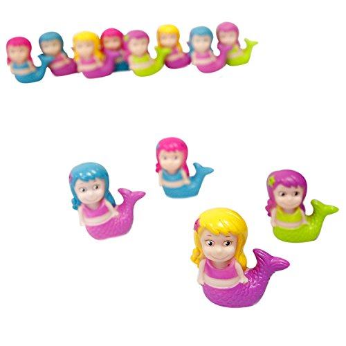 Rhode Island Novelty PASQUME Mermaid Squirt Toys-12 pc, One Size, Multicolor