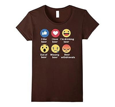Beer Face Emoji Funny T-Shirt Emoji Emoticon Party Beer Emoj