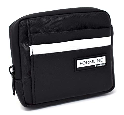 Formline Smell Proof Bag and Minimalist Wallet (4.5x4x1 inch) - Slim Low Profile Travel Container for Men w/Built in Credit Card Holder - Vegan (PU) Leather - Small/Pocket Size