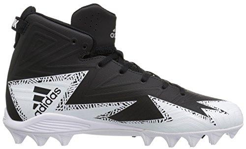Pictures of adidas Men's Freak X Carbon Mid Football Shoe, Black/Metallic Silver/White, 9.5 Medium US 3