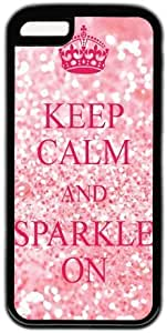 LJF phone case Keep Calm And Sparkle on Quote iphone 6 plus 5.5 inch Case