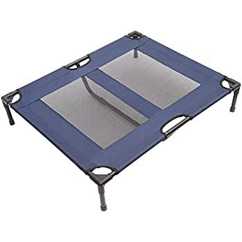 "Pawhut Elevated Dog Bed/Pet Cot, 36 x 30"", Blue"