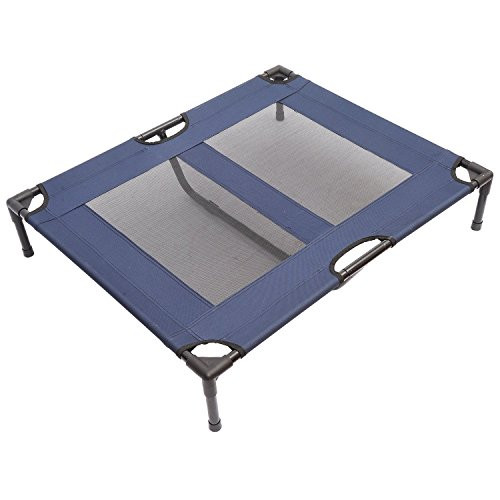 Pawhut Elevated Dog Bed Blue