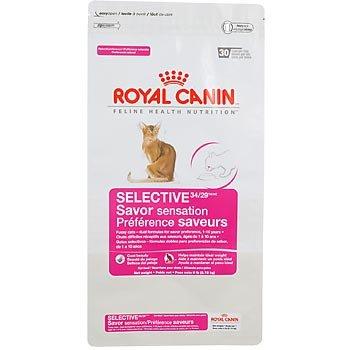 Royal Canin Feline Health Nutrition Selective 34/29 Savor Sensation Adult Dry Cat Food, My Pet Supplies
