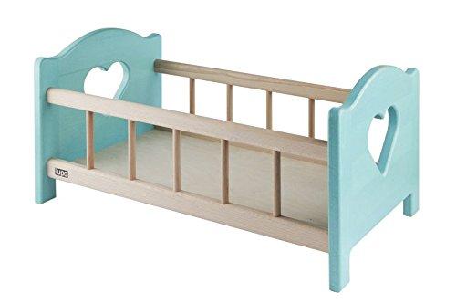 Poupees de lit en bois, en couleur bleue