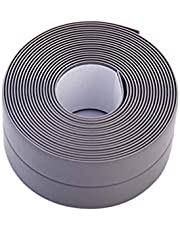 eroute66 Anti-Moisture Mould-Proof PVC Strip Wall Sink Edge Sticker Tape for Tub Wall Kitchen Bathroom Grey