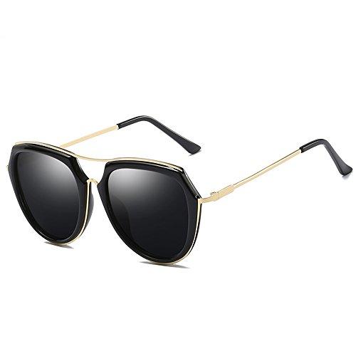 sol Gafas polarizadas sol E A conducción moda de marco de de de de del playa la gafas ZHIRONG retra viaje la grandes Color ligeras BIqEWdw