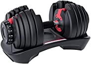Adjustable Dumbbell Weight 52.5lbs with Fast Automatic Adjustable Dumbbell for Men and Women Suitable for Full