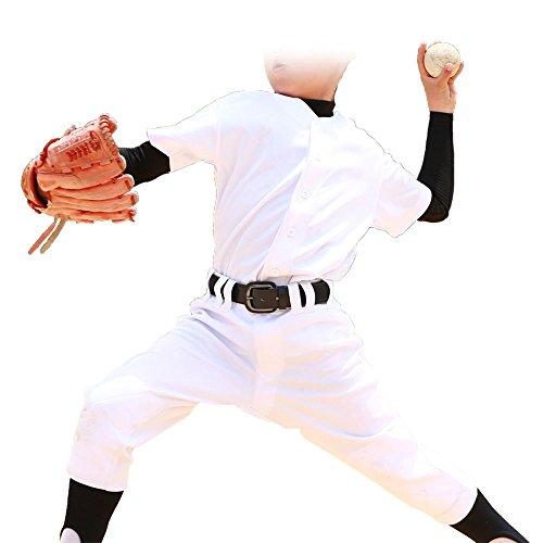 쥬니어 가벼워 움직이기 쉬운 편안히 세탁 야구 유니폼 상하 세트 무릎2중