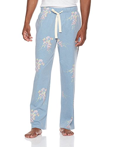 Rebel Canyon Young Men's Cotton, Blend Printed Floral Jersey Lounge Pant Medium Blue Floral (Pants Jersey Printed Lounge)