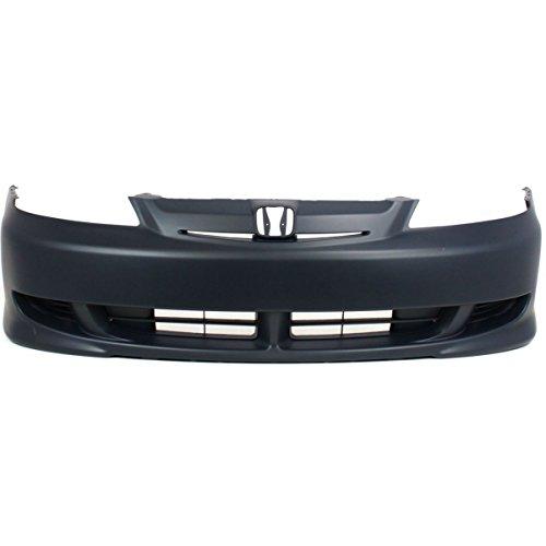 MBI AUTO - Primered, Front Bumper Cover Fascia for 2003 Honda Civic Hybrid 03, HO1000205