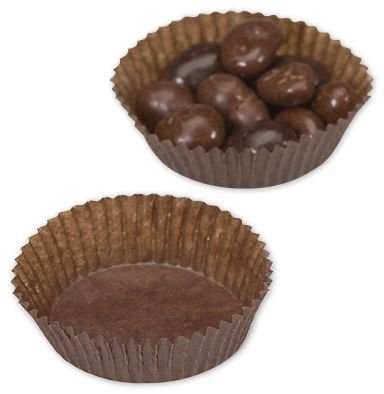 (Brown Glassine Candy Cups, 1 3/4 x 5/8