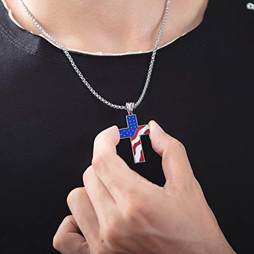 27 MEN 316L Stainless Steel Heavy Solid Gold Silver Black Large Cross Pendant