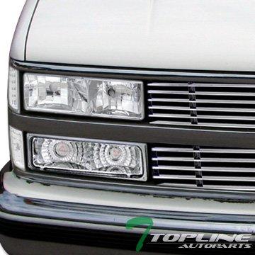 Topline Autopart Chrome Signal Bumper