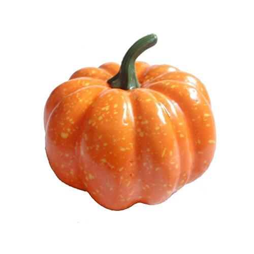 FENICAL Mini Artificial Pumpkins for Halloween Thanksgiving Party Decoration (Halloween Mini Pumpkin Decorating)