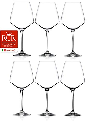 RCR Cristalleria Italiana Aria Collection 6 Piece Crystal Wine Glass Set (Red Wine (26.5 oz))