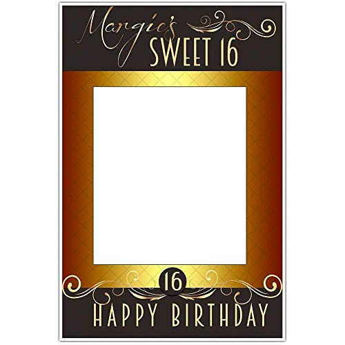 Sweet Sixteen Birthday Party Selfie Frame Social Media Frame Photo Booth Prop Poster ()