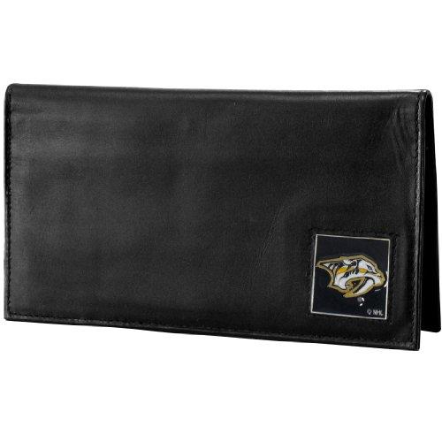 (NHL Nashville Predators Genuine Leather Deluxe Checkbook Cover)