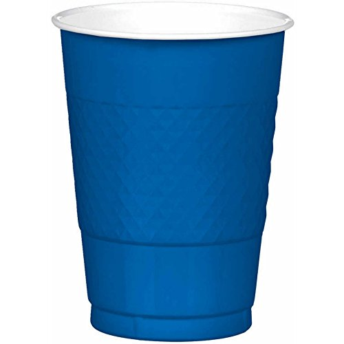Bright Royal Blue Plastic Cups| 16 oz.| Pack of 20| Party Supply