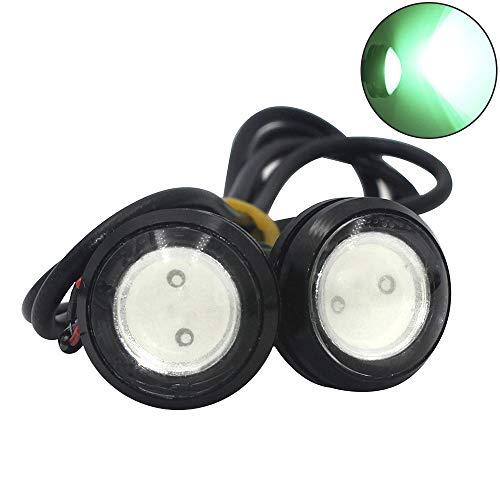 shunyang Car Replacement Eagle Eye 18mm LED 1.5W DRL Daytime Running Signal Bulbs Green 2Pcs ()