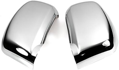 Triple Chrome Mirror Cover Trims For 2005 2006 2007 2008 2009 2010 Nissan Versa Tiida Latio Brand New 2Pcs