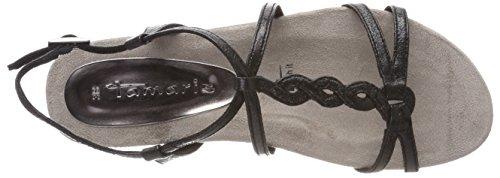 28602 Tamaris Cinturino Nero Sandali Caviglia Metallic Donna Black alla con rrwxd1SqA