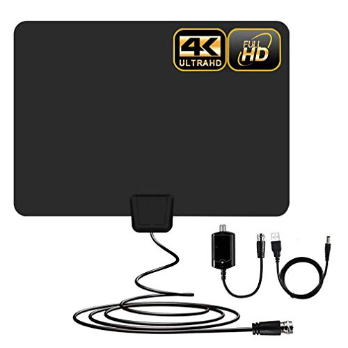 Cheap Amplified HD Digital TV Antenna 60-100 Mile Range.Support 4K HD VHF UHF Freeview Television Lo...