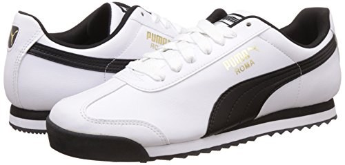 Puma Chaussures Unisexe noir Blanc Adultes 04 Roma blanc Basic 11x5Oz