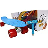 RIMABLE Complete 22 Inches Skateboard BLUERED (with Gift Box and T Tools)