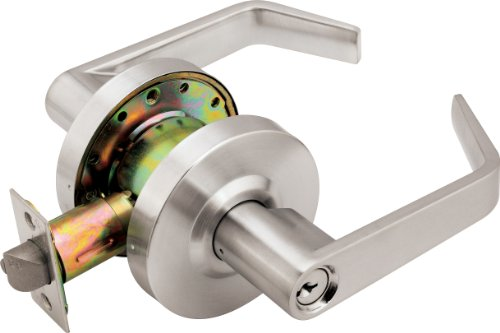 Legend 809291 Grade 2 Commercial Duty Front Door Entry Leverset Lockset, Master Keyed, ADA, US26D Satin Chrome Finish
