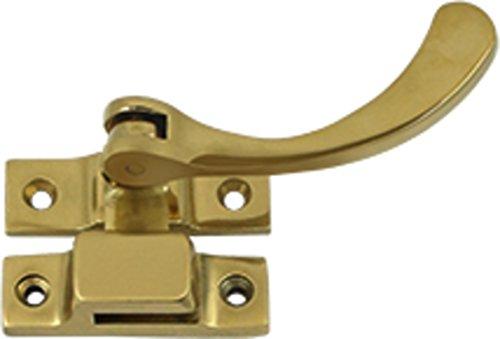 Brass Window Lock Casement Fastener - Deltana CF450U3 4.5-Inch Reversible Casement Fastener Window Lock