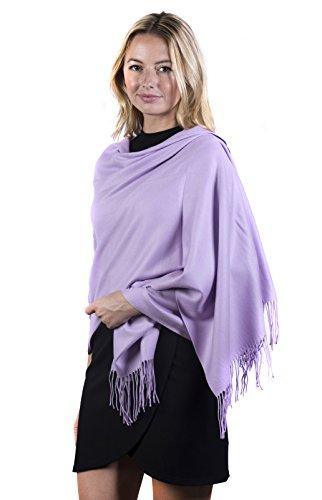 Fashmina Premium Solid Shawl Scarf - Ultra Soft, Beautiful Detailing, Cashmere touch