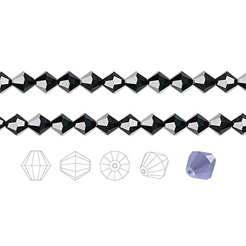 Preciosa Czech Crystal Beads Jet Faceted Bicone 8mm Package of 72 ()