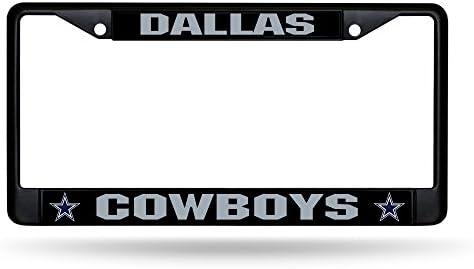 2 Bling License Plate Frame Set Rico Dallas Cowboys Chrome Metal