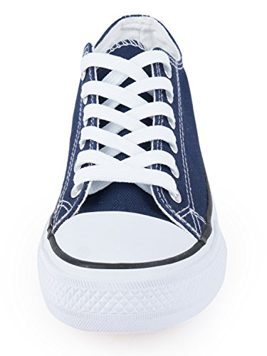 Shoes Canvas SUNJIN up ARCO Low Blue Women's Lace Navy Top Fashion Sneaker 7z6q7