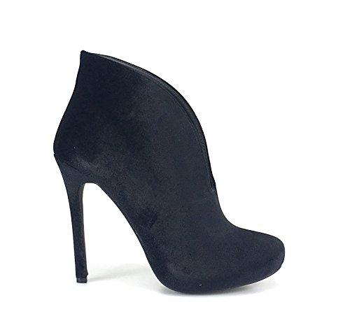 Jubilee Tavi13C Velvet Round Toe Dress High Heels Stiletto Bootie Women Boots Black LTsX3zupC