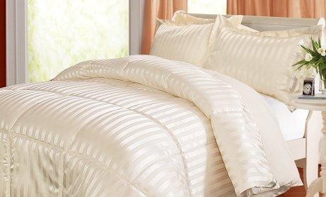 Kathy Ireland Home Essentials 3 Piece Reversible Down Alternative Comforter, King, Black