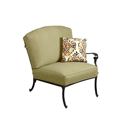 Hampton Bay Edington Right Arm Patio Sectional Chair with Celery Cushion price