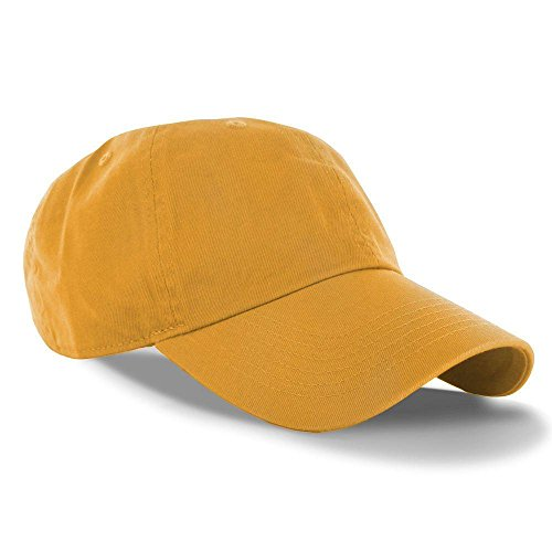 Gold_(US Seller)Curved Bill Plain Baseball Cap Visor Hat Adjustable