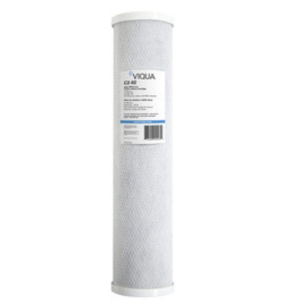 VIQUA Sterilight C2-02PB Carbon Block Filter 10 Micron with Lead Reduction 4.5'' x 20'' for IHS12-D4, IHS22-D4, SC320-DWS12, SC320-DWS22, SCM320-DWS12, SCM320-DWS22, and S12Q-WHSC UV Systems by VIQUA