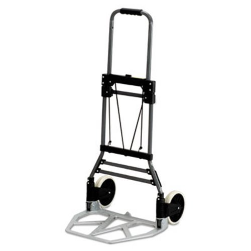 Safco® Stow-Away Medium Hand Truck Cart, 275lb Capacity, 19-1/2w x 18d x 39h, Aluminum