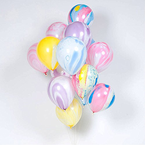 Shindig + Bash 12 inch Party Balloons - Unicorn - Marble - 20 Pieces by Shindig + Bash
