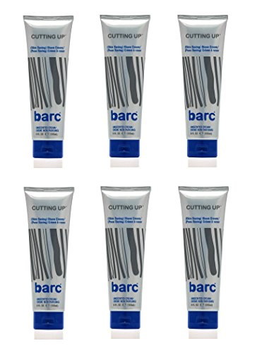 Barc Cutting Up Skin Saving Shave Cream, Unscented (6 Oz) (6 Pack) by Barc