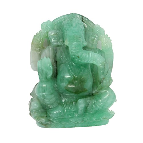 Be You 82 cts(90.11 ratti) Lab Certified Natural Zambian Emerald Fine Quality 34x25x11 mm size Carved Ganesh Ji (Cts Lab)