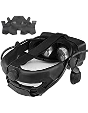 KIWI design Head Strap Cover for Valve Index Virtual Reality VR Headset Accessories with Comfortable PU Leather, Sweat-Proof Washable
