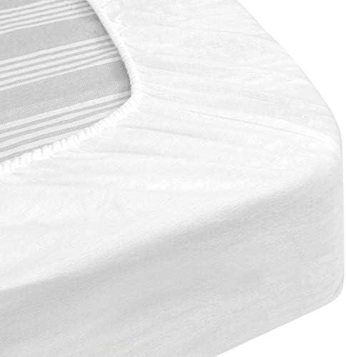 Protège Matelas imperméable 180x200 cm Bonnet 30cm Arnon Molleton 100% Coton contrecollé polyuréthane