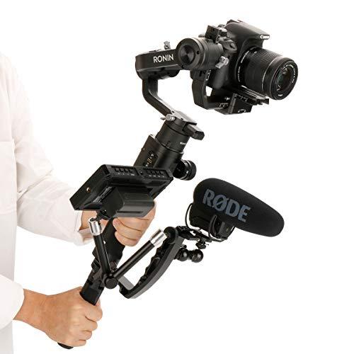 Arcen for Dual Handle Grip Transmount Single Handle L Bracket Rig 1/4 Screw Connector Compatible for Ronin-s Zhiyun Crane 2 Monitor Mount Adapter for Zhiyun Moza DJI Handheld Gimbal Stabilizer