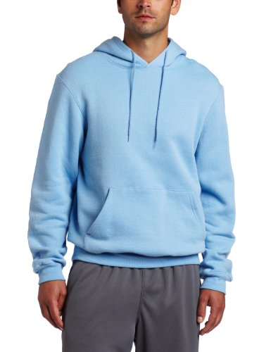 Soffe Men's Training Fleece Hooded Sweatshirt Light Blue Medium (Light Blue Hoodie)